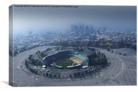 Dodger Stadium Aerial View, Canvas Print