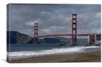 Golden Gate, Canvas Print