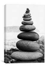 Stone Stack, Pembroke, Canvas Print