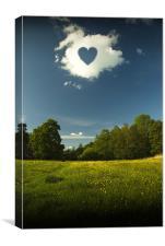 LOVE CLOUD, Canvas Print