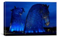 The kelpies (blue), Canvas Print