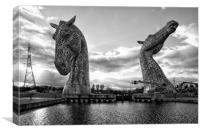 Kelpies (mono), Canvas Print
