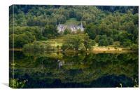 Reflection on Loch Achray, Scotland , Canvas Print