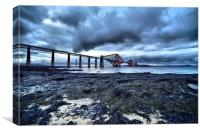 Forth Bridge (tide out), Canvas Print