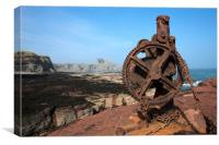 Winch at Seacliff harbour, Canvas Print