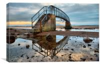 Bridge to nowhere , Canvas Print