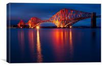 Forth Bridge blue hour, Canvas Print