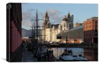 Three Graces From Albert Dock, Canvas Print