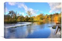 The Horseshoe Falls, Llangollen, Canvas Print