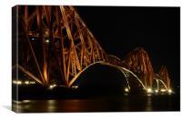 Forth Rail Bridge by Night, Canvas Print