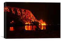 Forth Rail Bridge Anchor, Canvas Print