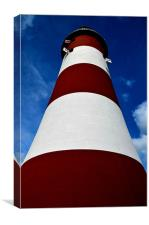 Plymouth Smeatons Tower, Canvas Print