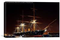 HMS Warrior , Canvas Print