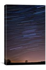 Star trails; as we orbit the vast Solar system, Canvas Print