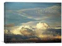 The clouds have depth, Canvas Print