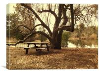 Pleasant picnic, Canvas Print