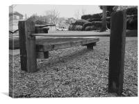 The bench of despair, Canvas Print