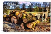 Tree Felling, Canvas Print