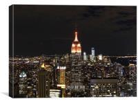 New York night scene, Canvas Print
