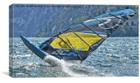 Windsurfer close up, Canvas Print