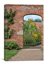 Entrance to the walled garden, Canvas Print