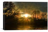 Waters edge, Canvas Print