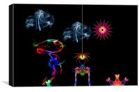 The Enchanted Smoke Spider, Canvas Print