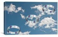 Smoke Rings In The Sky 2, Canvas Print