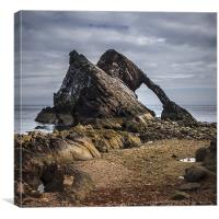 Low tide at Bow Fiddle Rock, Canvas Print