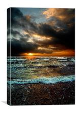 Sunset at Lee on the Solent, Canvas Print