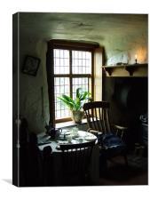 warm kitchen, Canvas Print