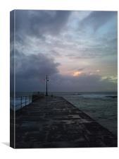 Cornish skies, Canvas Print