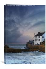 Storm over PorthLeven, Canvas Print