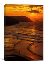 Porthtowan Beach - North Cornish Coast, Canvas Print