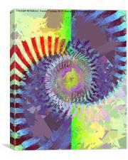 Sun Spiral, Canvas Print