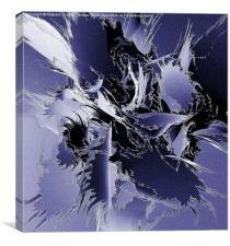 Fractal Wave Frenzy, Canvas Print
