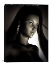 China Girl Portrait, Canvas Print