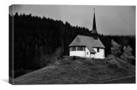 Black Forest Church, Canvas Print