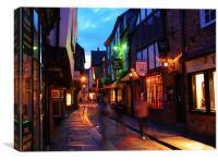York Shambles at Night, Canvas Print