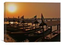 Sunset on Dubai Creek, Canvas Print