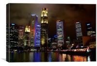 Singapore City, Canvas Print
