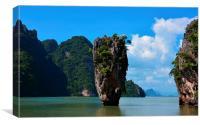 Thailand, James Bond Island, Canvas Print
