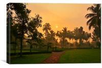 Warm Sunset, Canvas Print