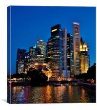 Singapore at Dusk, Canvas Print