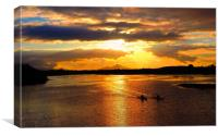 Croagh Patrick at Sunset, Canvas Print