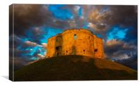 Cliffords Tower Sunset, Canvas Print