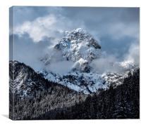 Winter Alps, Canvas Print