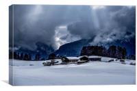 Alpine Winter, Canvas Print