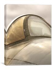 Hawker Hunter Cockpit, Canvas Print