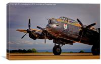 The Mynarski Lancaster, Canvas Print